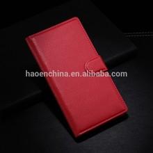 Mobile phone leather flip case for blackberry z3 wholesale