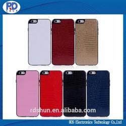 Luxury Crocodile Grain PU Leather Case For iPhone 6 Plus