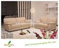Novo design sofá de canto de couro, dois lugares sofá em casa de cama