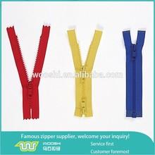 Closed end #5 resin zip/Two way separating plastic zipper/one way open end derlin zipper