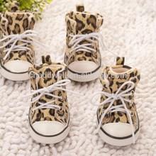 Leopard impreso zapatos del animal doméstico, Zapatos para perros
