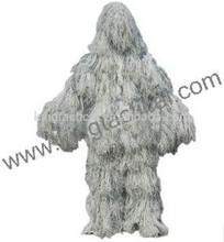 La nieve tácticas de juego del ghillie/militar de nieve peso ligero ghillie suit/francotirador táctico ghillie traje de venta al por mayor