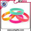promotional souvenir glow in dark silicone wrist band