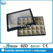 PU Leather Classically Designed jewelry box inside sponge