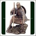 de estilo japonés antigua estatua de bronce de rodillas samurai warrior escultura