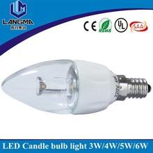 AC240v SAA RCM listed 4w dimmable 2800k ceramic cob led candle light