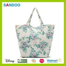 Fashion women cotton shopping bag, lady tote bag
