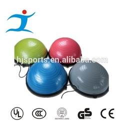 Diameter 58cm PVC bosu ball for fitness equipment