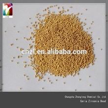 Gold bronze powder grinding medium , zirconium oxide grinding ball with high quality