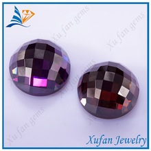 round shape purple red dreaming cubic zircon
