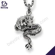 Innovate design dragon shape silver men accessories jewellery set
