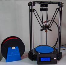 3D Printer ROSTOCK Mini Pro Replicator Machine 3 D DIY Kits +LCD Controller+free 2KG PLA