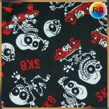 cotton skull flannel fabric by the yard