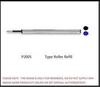 metal roller refill in black and blue and red color with swiss tips and germany ink