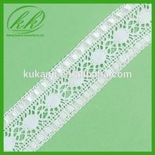 Most Popular and Unique Beige Ecru Cotton Lace Trim for girl dress Wholesale KK-568