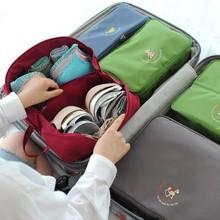 Travel creative mutifunction zipper Bra storage bag / storage box