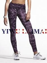 new 2015 YIWULAIMAIHigh quality brand Tiger stripes of purple print Yoga Pants