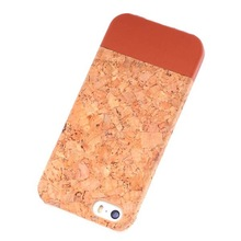 phone accessory cork+leather mobile phone faceplates for iphone 6