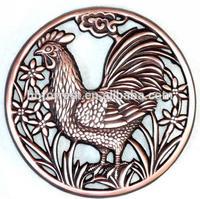 copper chicken shape cast iron trivets