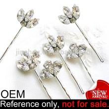 decorative customized small plain claw metal crystal hair clip