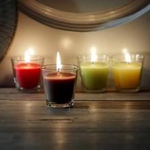 la cera de parafina de largo tiempo de quema de tarro de cristal blanco de citronela vela para la iluminación y la decoración del hogar