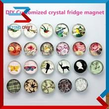 Turística imán del refrigerador del recuerdo, Cristal hechos a mano de recuerdos