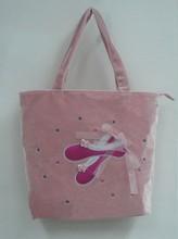 Custom velvet embroidery applique logo ballet dance handbag