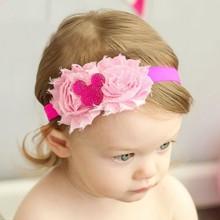 Shabby Chiffon Flower With Rhinestone Crown Headbands Baby Girl Headband Mickey Hairband Hair Accessories HB065