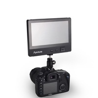 Aputure 7 inch full HD color wide screen dslr lcd monitor TFT screen with HD input, AV, YPBPR