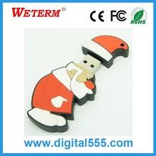 USB2.0 Christmas Day Gift Santa Claus USB Flash Drive