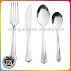 Disposable plastic silver coated spoon