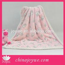 Bear Printed Wool Blanket Baby Pictures Cheap Wholesale Blankets In Bulk