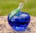 تفاحة زرقاء الكريستال هدية تذكارية mh-g0175 لحضور حفل زفاف
