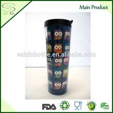480ml BPA Free Double Wall changeable insert paper travel mug/ Plastic Travel Mug