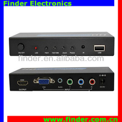 VGA & Component YUV Video to HD Converter (Scaler) YPbPr VGA to HD converter