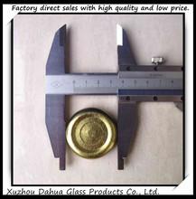 All sizes of golden metal lid tin cap