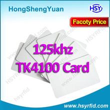 2014 TK4100 125khz id printed clamshell smart rfid access card