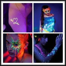 washable neon face body paint color UV face body paint