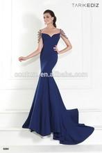 Tarik Ediz 2015 collection RTE 92593 women party wear sexy boat neck royal blue long mermaid evening dresses china