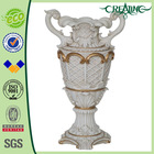 18 INCH Classical White Resin Chinese Vase