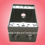 electricity saving box with 2 inch depth, four holes, Aluminum