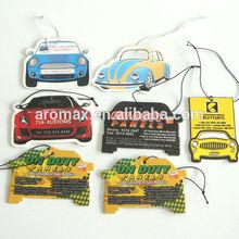 2014 hanging type custom car shape design car paper air freshener