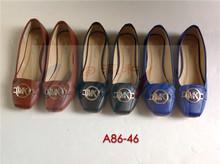 Luxury guangzhou supplier mk elegant flat shoes