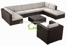 Promoção de venda ao ar livre mobiliário de jardim L forma sofá