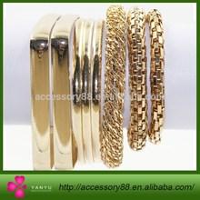 Hot For Lovers Charm Bracelet with gold square Modernist Square Bangle and snake bangle bracelet