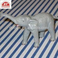 Hard gray plastic elephant figurines