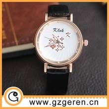 factory leather strap diamond quartz wholesale china watch