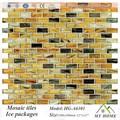 marrom e bege cor de tijolo de vidro em mosaico
