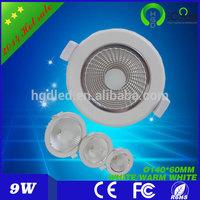 environmental protection 9W COB LED Downlights indoor application