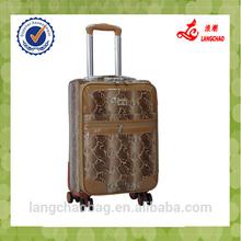 2015 pu affordable luggage factory peice luggage trolley folding superior quality garment bag luggage